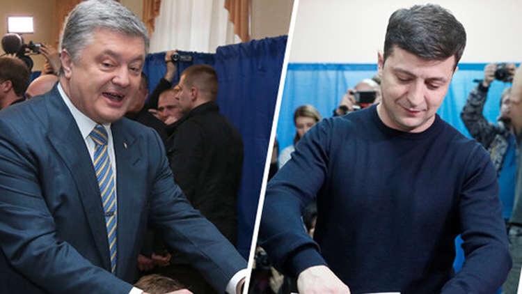النتائج الأولية للانتخابات الأوكرانية: زيلينسكي وبوروشينكو إلى الجولةالثانية